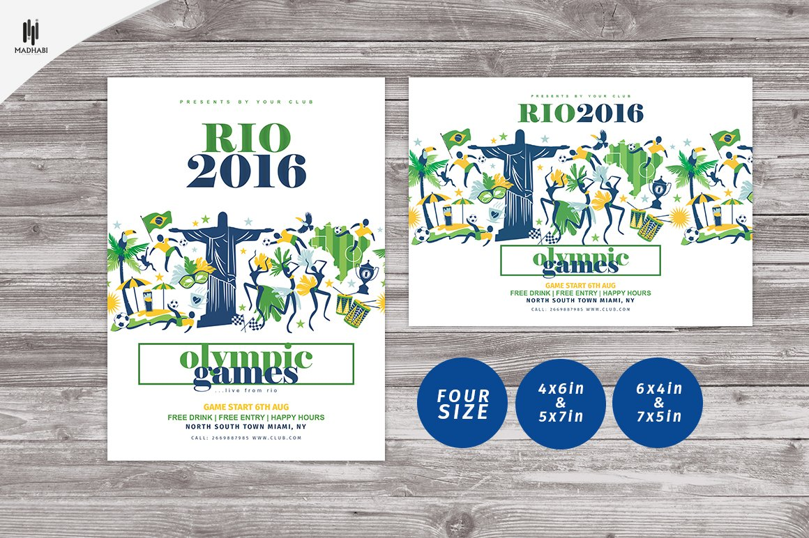 Rio 2016 Flyer Olympic Games Flyer Flyer Templates