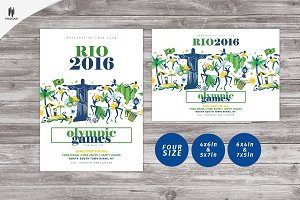 Rio 2016 Flyer/Olympic games flyer