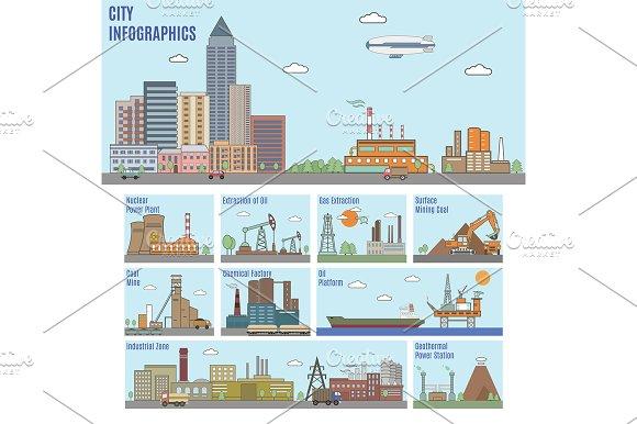 City infographics. Industry - Graphics