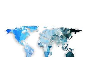 Bundle of 12 world maps