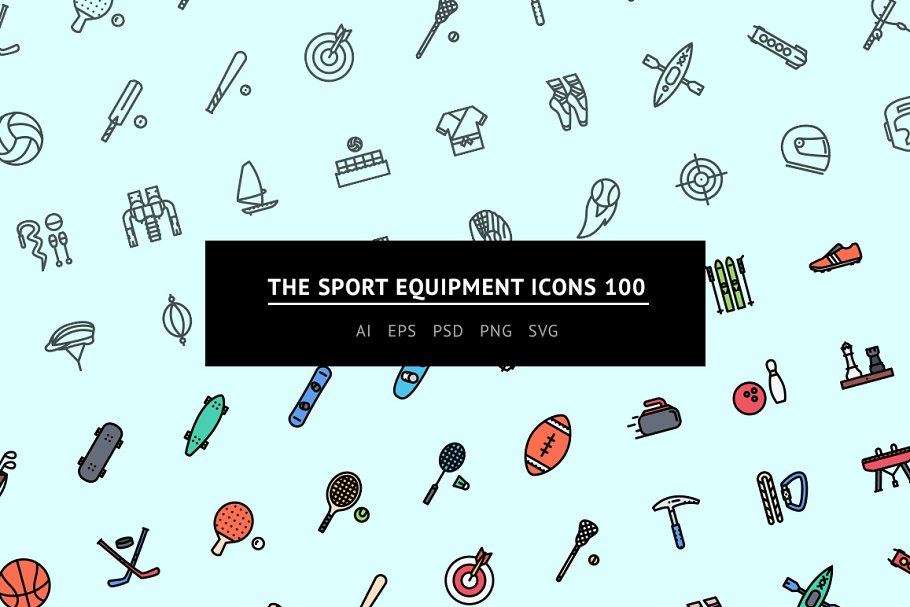 The Sport Equipment Icons 100