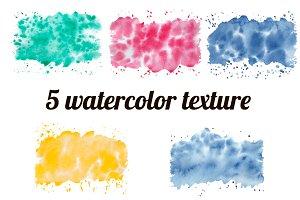 5 Watercolor Textures