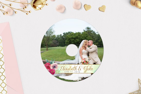 CD Label Template | Lovers in Stationery Templates - product preview 1
