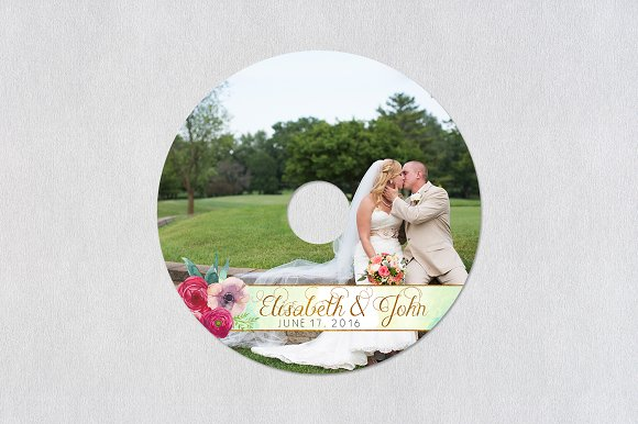 CD Label Template | Lovers in Stationery Templates - product preview 2