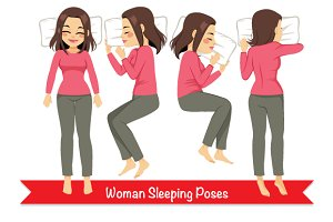 Infographic Woman Sleeping Poses