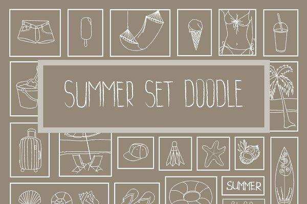 Summer set doodle