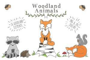 Woodland Animal Clip Art Set
