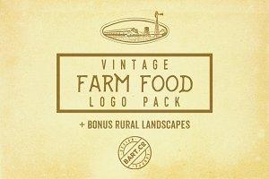 9 Vintage Food Logos + BONUS