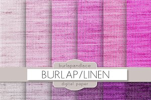 Burlap purple color