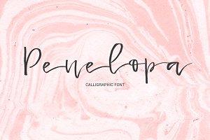 Penelopa - gentle calligraphic font