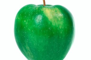 Green fresh apple