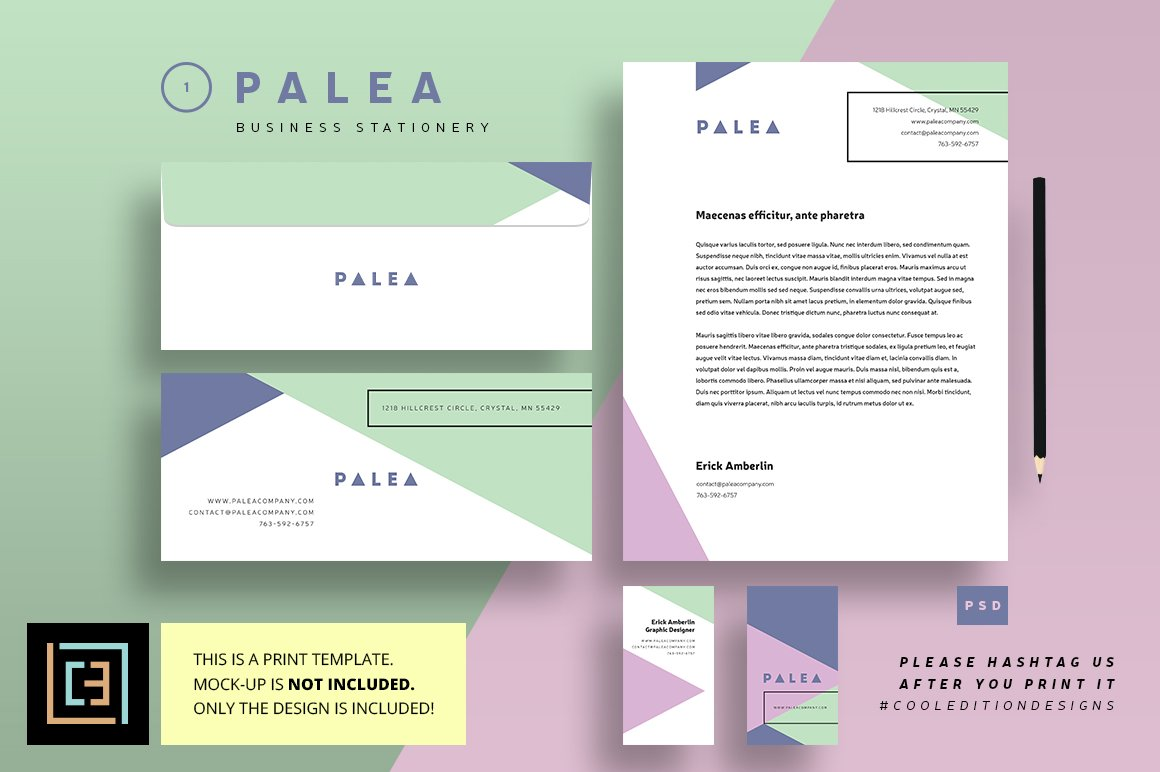 business stationery 1 palea stationery templates creative market