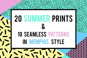 30 Summer Memphis Prints