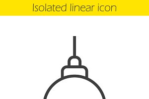 Ceiling lamp linear icon. Vector