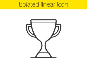 Champion cup linear icon. Vector