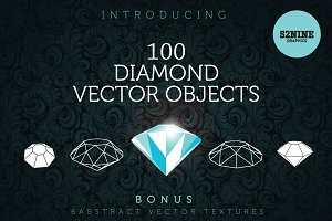 Diamond Vector Objects + Bonus!