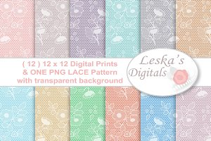 Lace Digital Paper - Lace Pattern