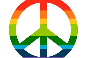Brightness Rainbow peace symbol