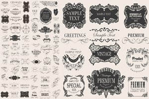 Calligraphic & page decoration set 1