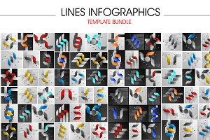 Lines infographics set