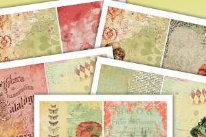 Grunge Poppy Junk Journal Kit