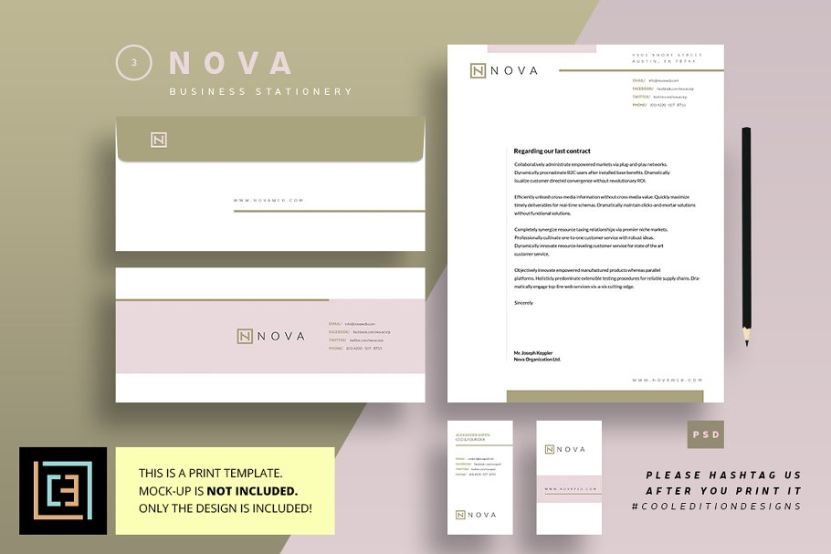Business stationery 3 nova stationery templates creative previous friedricerecipe Images