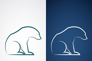 Vector image of an bear design.