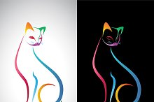 Vector image of an cat design.