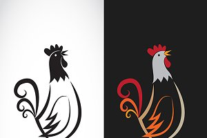 Vector image of an chicken design.