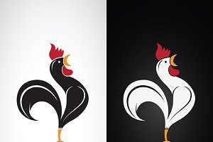 Vector image of a cock design.