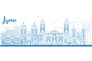 Outline Lima Skyline