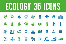 Ecology 36 Vector Icons
