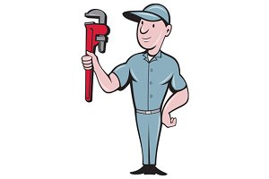 Handyman Monkey Wrench Standing