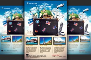 Travel Agency Promotional Flyer Temp