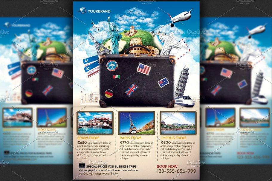 Travel Agency Promotional Flyer Temp Flyer Templates Creative Market