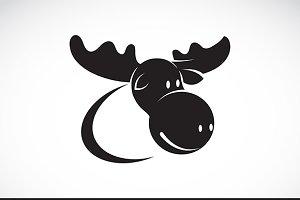 Vector image of moose design