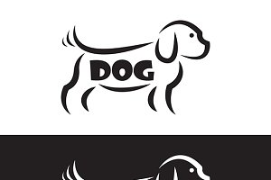 Vector image of an dog design.