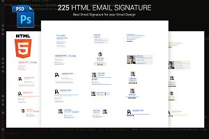 Email signature with HtML Included