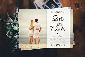 Save The Date Postcard Template-V08