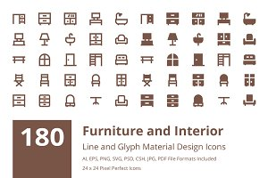 180 Furniture Material Design Icons
