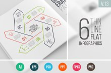 Linear elements for infographic v.13