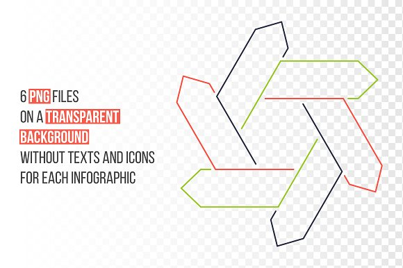Linear elements for infographic v.13 in PowerPoint Templates - product preview 1