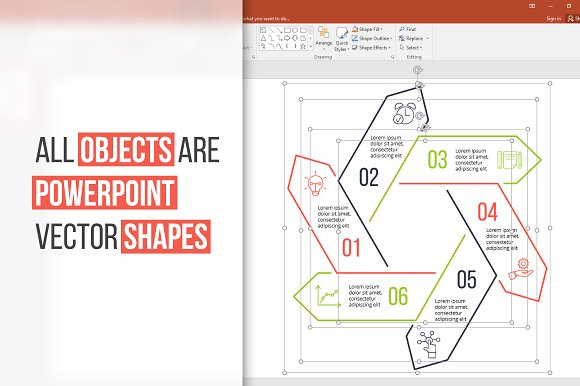 Linear elements for infographic v.13 in PowerPoint Templates - product preview 2
