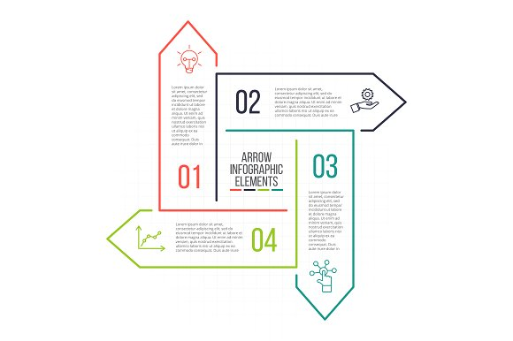 Linear elements for infographic v.13 in PowerPoint Templates - product preview 4