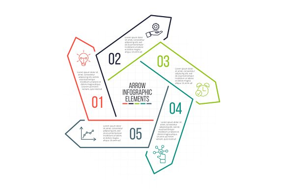 Linear elements for infographic v.13 in PowerPoint Templates - product preview 5