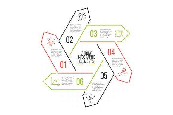 Linear elements for infographic v.13 in PowerPoint Templates - product preview 6