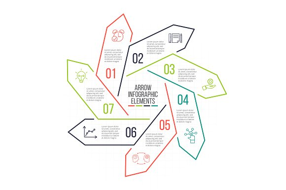 Linear elements for infographic v.13 in PowerPoint Templates - product preview 7