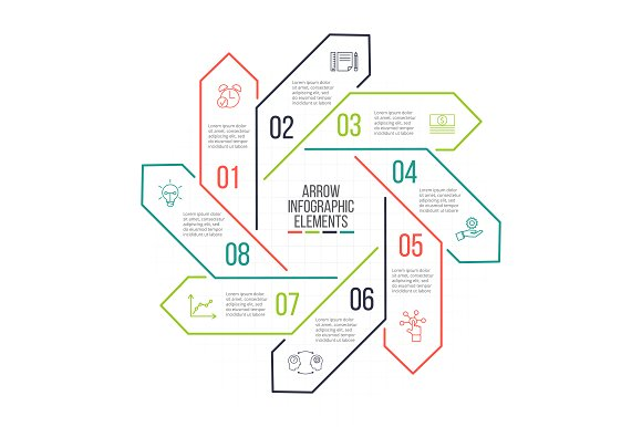 Linear elements for infographic v.13 in PowerPoint Templates - product preview 8