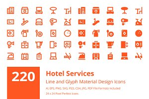 220 Hotel Services Material Icons