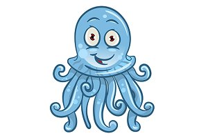 Cartoon jellyfish character